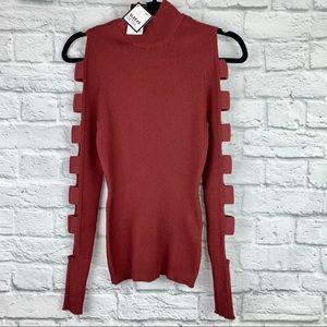 NWT Rue21 Cutout Sleeve Detail Turtleneck Sweater
